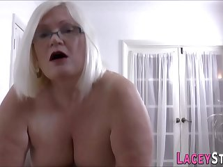 Gran masseuse gobbles and..