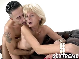 Cock adoring granny screwed..