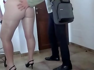 Pantyhose Flashing Big Ass..