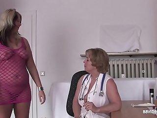 German doctor checks lesbian..