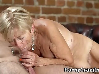 Wrinkled old woman banged..