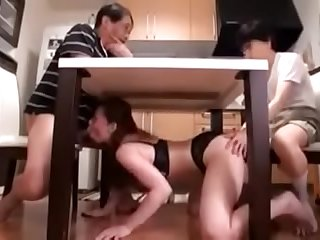 Japanese bigtits aunt teach..