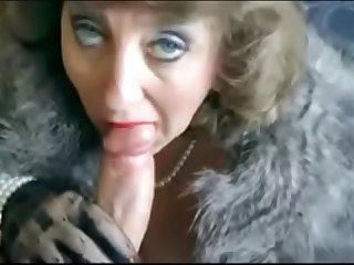 Classy Elegant MILF Sucking..