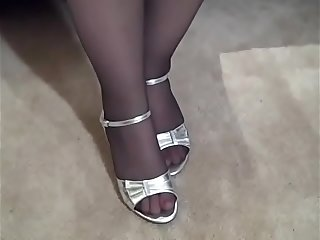 Chubby Wife in Pantyhose and..
