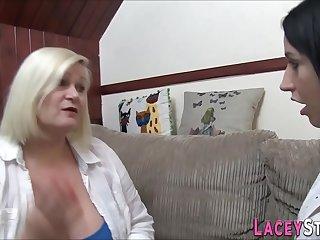 Brit gran and chubby lesbian..