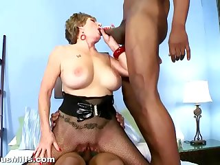 Horny granny gets fucked by..