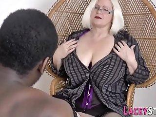 British gran in lingerie..