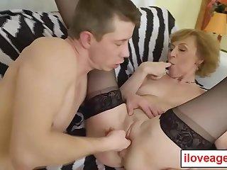 Old Lady Dana B rubbing her..