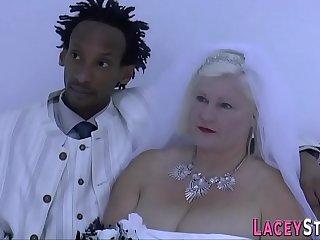 Granny bride Lacey Starr..