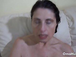 Sexy grannies fuck hard in..