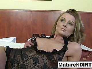 Blonde mature gets..