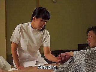 Mature Japanese masseuse..