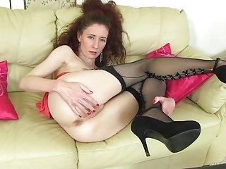 Older slender mommy with..