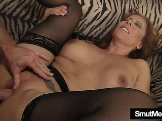 Large boobed aged doxy in..