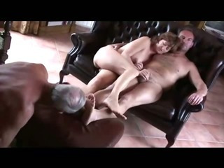Old cuckold lick both wife..