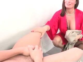 Stepmom seduces son and his..