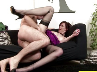 Mature stockings fucked..