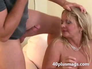 Chubby blonde wife takes..