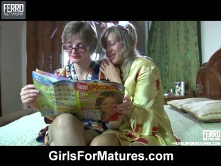 Leonora&Nora mature lesbian..
