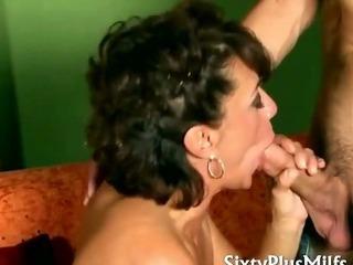 Horny mature slut in fishnet..