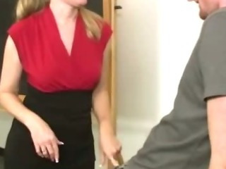 Naughty mature teacher gives..
