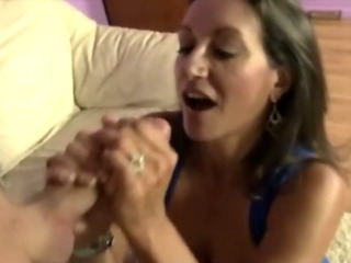 Milf plays with her huge..
