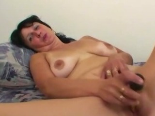 Old horny wife using her..