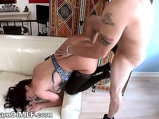 A Sexy Mature Housewife Gets..