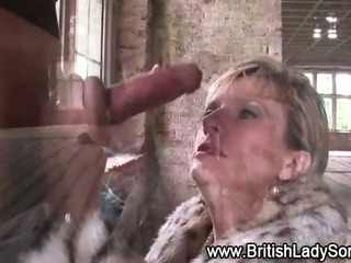 British whore takes cock