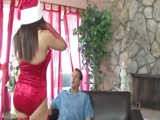 Big breasted mature santa..