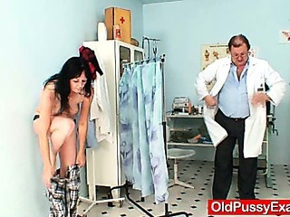 Amateur Milf twat checkup by..