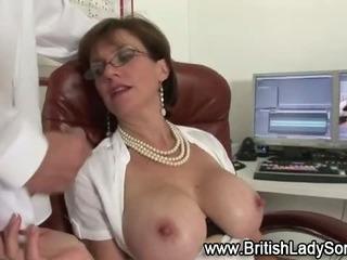 Horny british slut gets..