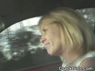 Blonde Crack Whore Sucking..