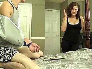 Fifi Foxx gives son a handjob
