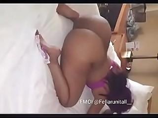 Big booty ebony Mom and own..