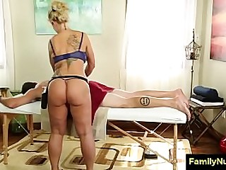 Sexy milf massage and fuck