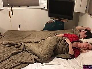 Stepson and stepmom sleep..