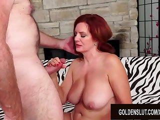 Redheaded Mature Babe Andi..