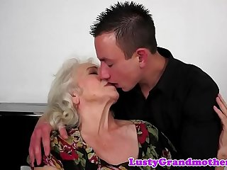 Hairy grandma banged deeply..