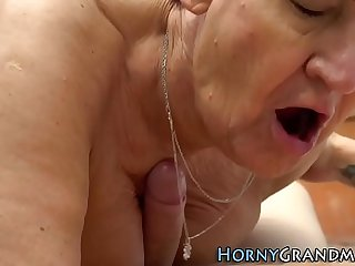 Grandmother rides masseur