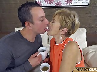 having tea with my grandmother